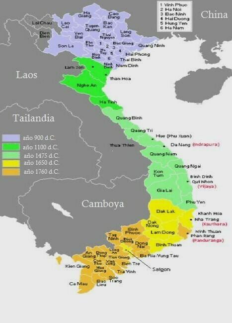vietnam mapa asia